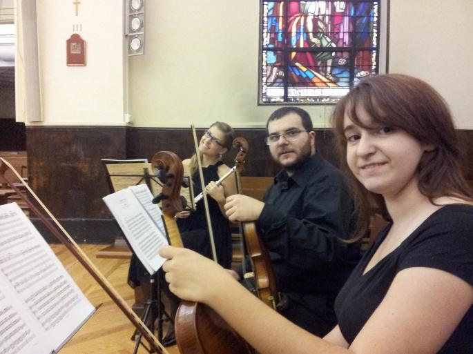 Flauta travesera, dos violines y voz bodas